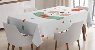 Xmas Bear Party Hat Tablecloth