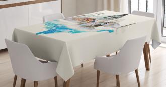 Watercolor Winter Art Tablecloth