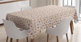 Sketch Reviving Nature Tablecloth