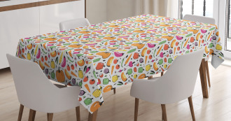 Cartoon Ingredient Tablecloth