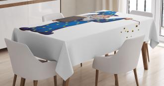 Sorcerer Man Book Spell Tablecloth