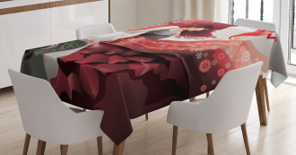 Flamenco Dancer Lady Tablecloth