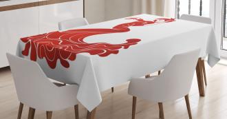 European Folklore Ethnic Tablecloth