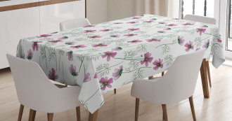 Cosmos Flowers in Pink Tablecloth