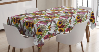 Blooming Garden Bouquet Tablecloth
