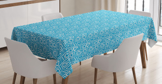 Bicolor Geometric Shapes Tablecloth
