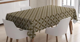 Damask Classic Floral Tablecloth
