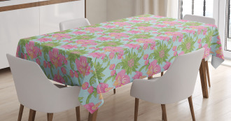 Tropical Hibiscus Blossom Tablecloth