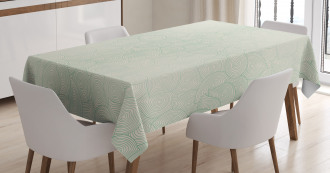 Jumbled Moire Composition Tablecloth
