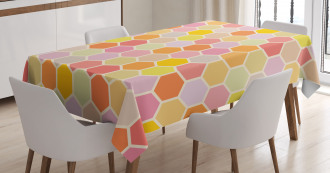 Hexagon Retro Pattern Tablecloth