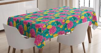 Romantic Bouquet Roses Tablecloth