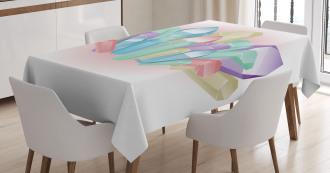 Natural Uncut Minerals Tablecloth