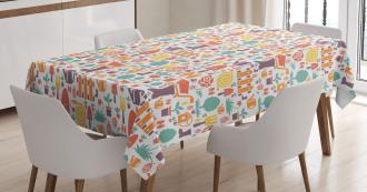 Botany Equipment Pattern Tablecloth