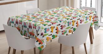 Nursery Cartoon Tablecloth