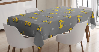 Scooters and Stars Tablecloth