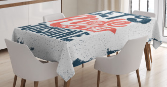 Lets Ride Quote Tablecloth