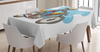 Cartoon Fun Dog Tablecloth