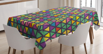 Grid Mosaic Triangles Tablecloth