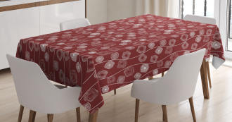 Spirals and Wavy Lines Tablecloth