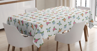Blooms Pink Tone Spiral Tablecloth