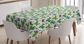 Exotic Succulent Plants Tablecloth