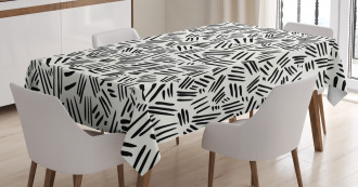 Hand-drawn Stripes Tablecloth