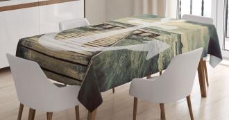 Anchor Ocean Waves Tablecloth