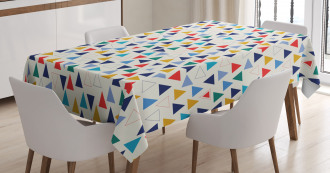 Colorful Simple Triangles Tablecloth