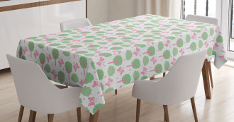 Trees Bushes Butterflies Tablecloth