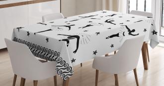 Stars and Hand-drawn Swirls Tablecloth