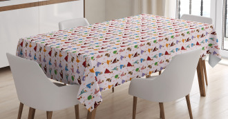 Kids Dancer Girls Colorful Tablecloth
