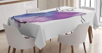 Doodle Style Ballerina Icon Tablecloth
