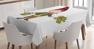 Little Elf Boy with Clover Tablecloth