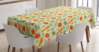 Organic Food Composition Tablecloth