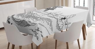 Monochrome Wind Surf Tablecloth