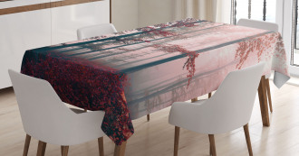 Autumn Fall Nature Woods Tablecloth