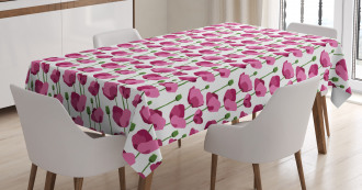 Delicate Spring Floral Art Tablecloth
