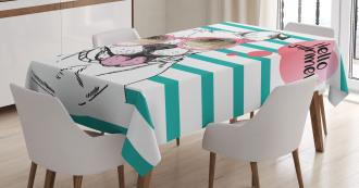 English Pitbull Sunglassess Tablecloth