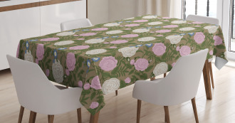 Romantic Rose Branches Tablecloth