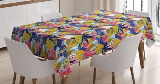 Jungle Flower Petals Art Tablecloth