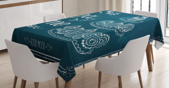 Pastries Bakery Drawing Art Tablecloth