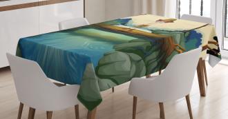 Adventurous Kid on Trunk Tablecloth
