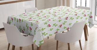 Fruits Foliage Nature Tablecloth