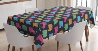Camper Traveler Truck Pattern Tablecloth