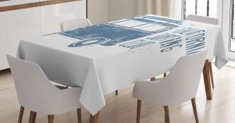 California Surfing Club Vintage Tablecloth