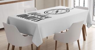 Marine Life Phrase Tablecloth