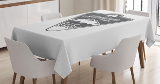 Camping and Hiking Tablecloth