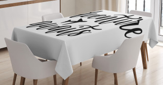 Travel Typography Tablecloth