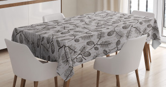 Twigs Spruces Christmas Tablecloth