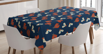Flying Spring Insect Theme Tablecloth